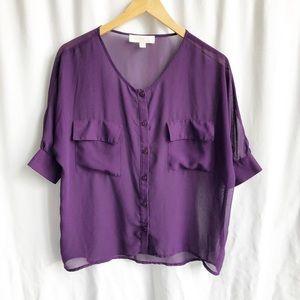🌷3 FOR $25 SALE🌷 Olive & Oak purple sheer blouse